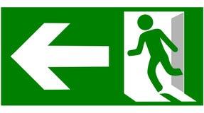 Przeciwawaryjny pożarniczego wyjścia znaka przedstawienie sposób uciekać royalty ilustracja