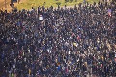Przeciwrządowy protest w Bucharest Obraz Stock
