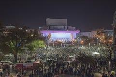 Przeciwrządowy protest w Bucharest Obraz Royalty Free