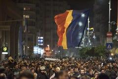 Przeciwrządowy protest w Bucharest Zdjęcia Stock