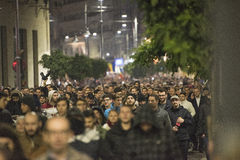 Przeciwrządowy protest w Bucharest Obrazy Stock