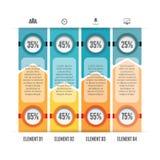 Przeciwstawiać bary Infographic Zdjęcie Royalty Free