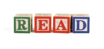 przeczytaj bloków alfabet Obrazy Royalty Free