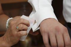 Przed ślubną ceremonią Fotografia Stock