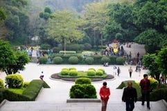 Przed Chińskim nowym rokiem Yuexiu parka sceneria zdjęcie stock