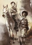 Przed czasem w Meksyk - ręka malował ilustrację ilustracja wektor