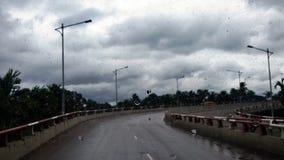 Przed padać niebo widok w bagladesh Zdjęcia Stock