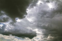 Przed ulewny deszcz burzą fotografia stock