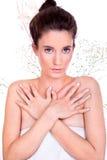Przed zdroju traktowaniem piękna kobieta Zdjęcie Royalty Free
