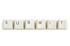 Przedkłada od rozrzuconych klawiaturowych kluczy na bielu zdjęcie stock
