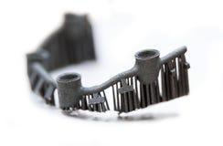 Przedmiot drukujący na laserowej sintering maszynie Zdjęcie Stock