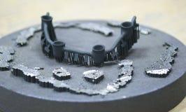 Przedmiot drukujący na laserowej sintering maszynie Fotografia Royalty Free
