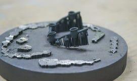 Przedmiot drukujący na laserowej sintering maszynie Obrazy Stock