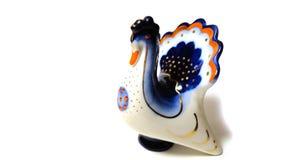 przedmiot porcelany rocznika Indyczy biały błękit zdjęcie royalty free