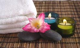 przedmiotem aromatycznego spa Zdjęcie Royalty Free