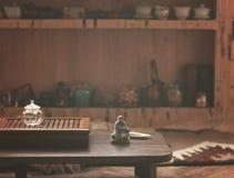 Przedmioty dla herbacianej ceremonii Fotografia Stock