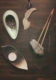 Przedmioty dla herbacianej ceremonii Obraz Stock