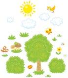 Przedmioty dla las scenerii royalty ilustracja