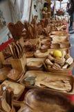 Przedmioty robić oliwny drewno Zdjęcia Royalty Free