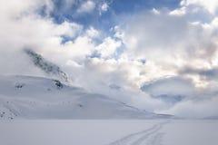 Przedni Staw,湖在冬天 库存照片