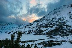 Przedni Staw, lago en invierno Foto de archivo libre de regalías
