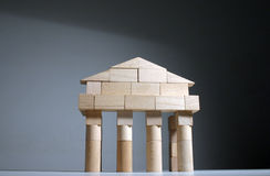 przednia starożytnej świątyni Fotografia Stock