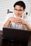 przedsiębiorcy azjatykci działanie Zdjęcia Stock