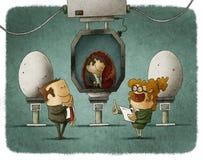 Przedsiębiorcy fabryczni ilustracji