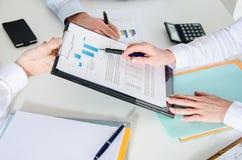 przedsiębiorcy pracują razem Zdjęcie Stock