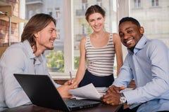 przedsiębiorcy pracują razem Obraz Stock