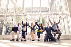 przedsiębiorcy sukces zdjęcia royalty free