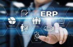 Przedsięwzięcia Zasoby Planowanie ERP Korporacyjny Firma zarządzania technologii Biznesowy Internetowy pojęcie obraz royalty free