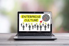Przedsięwzięcie kultury pojęcie na laptopu ekranie Zdjęcia Stock