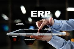 Przedsięwzięcie zasoby planuje biznesu i technologii pojęcie zdjęcie stock