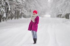 Przedstawiać zimy modę Fotografia Royalty Free