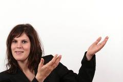 przedstawia biznesowej kobieta Obrazy Stock