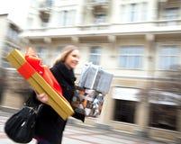 Przedstawia podniecenie ulicę blured Obrazy Royalty Free