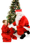 przedstawia Santa Obraz Royalty Free