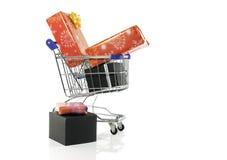 przedstawia wózka na zakupy Zdjęcie Royalty Free