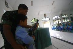 Przedstawia zawodu indonezyjczyka wojska Zdjęcia Stock