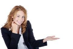 Przedstawiający bizneswoman Obraz Royalty Free