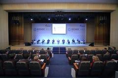 Przedstawiciele organizacje na konferenci międzynarodowa Fotografia Stock