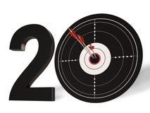 20 przedstawień 20th rocznica Lub Twentieth urodziny Fotografia Stock