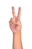 Przedstawienia 2 palca znak Zdjęcia Royalty Free