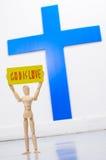 Przedstawienie bóg jest miłością Zdjęcia Stock