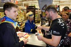 Przedwyborcza agitaci kampania w Gomel regionie w Białoruś Obraz Stock