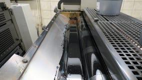 Przedziałowy widok na drukowych maszynach obraz stock