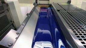 Przedziałowy widok na drukowych maszynach obraz royalty free