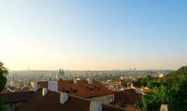 Przegapiać dachy Praga Zdjęcie Stock
