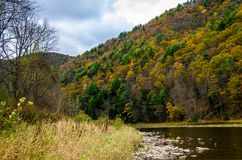 Przegapiać dolinę przy jesienią Obrazy Royalty Free